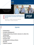0208 Transportation Planning and Shipment Execution Utilizing SAP Standard Function-ality With Freight Cost Extension Add On