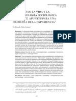 Ricardo Salas Astrain - El mundo de la vida y la fenomenología sociológica. Apuntes para una filosofía de la experiencia