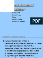 UPWARD DOWNWARD COMMUNICATION