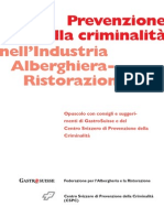Prospetto «Prevenzione della criminalità nell`Industria Alberghiera-Ristorazione »