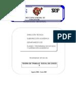 Programa Teoria de Trabajo Social de Casos II 2006-2007