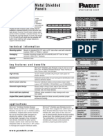 Panduit Mini-Com ® All Metal Shielded Modular Patch Panels Specification Sheet