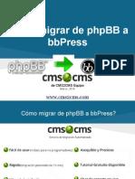Cómo migrar de phpBB a bbPress