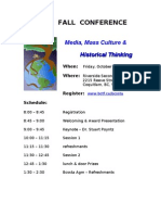 2009 Conference Schedule