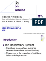 Lecture 3 (Pulmonary Adaptation to Exercise)