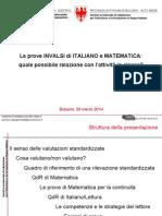 Le prove INVALSI di ITALIANO e MATEMATICA