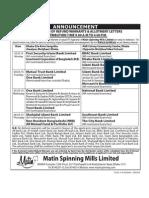 Matin Spinning Mills Ltd Distribution