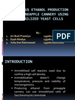 Continous Ethanol Production From Pineapple Cannery Using Immobilized