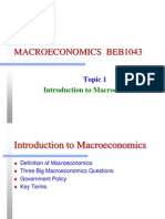 Intro to Macroeconomic