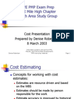 Pmi Cost Notes