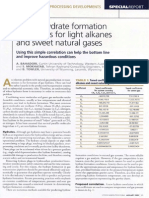 Hydrocarbon Processing - Predict Hydrate Formation Conditions for Light Alkanes and Sweet NG