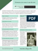 Aluminio en Las Vacunas 2012