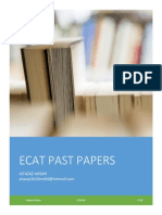 ECAT PAPERS BY AITAZAZ AHSAN