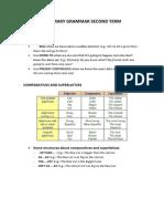 Summary Grammar Second Term