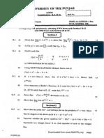 Pu Bsc a Maths a a2010
