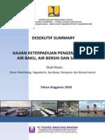 Kajian Keterpaduan Pengambangan Air Baku, Air Bersih