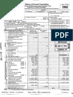 JEHT Foundation -- 2002 Tax Return