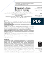 Effects of Financial Reform on Productivity Change