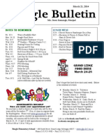 Newsletter Beagle Elementary School March 21, 2014