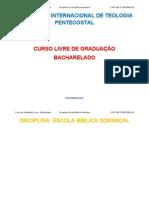 disciplina-Escola Bíblica Dominical