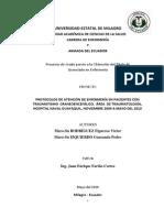 Protocolo de Atencion de Enfermeria en Pacientes Con Traumatismo Craneoencefalico Area de Traumatologia Hospital Naval