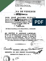 Toxicologia, Doctrina de Venenos y Sus Antidotos