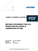 Method Statement of GRP