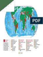 Mapa Hotspots 2005
