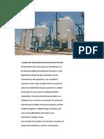 PLANTA DE TRATAMIENTO DE AGUA DE INYECCIÓN