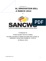 Medical Innovation Bill 2014 - Response South African National Cannabis Working Group
