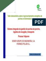 Sistema Integrado de Gestion de Purines, Logistica de Recogida y Transporte. Proceso Valpuren. Pa