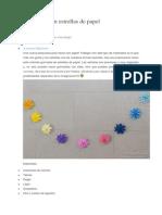 Guirnalda con estrellas de papelArtículo Publicado el 10
