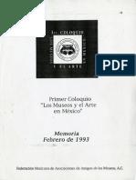 Primer Coloquio -Los Museos y el Arte en México