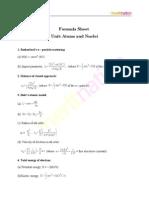 Physics Formula Sheet2
