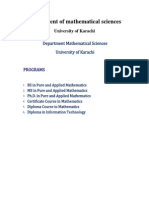 Course Outline of BS Mathematics in UoK