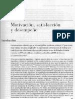 Motivacion, satisfaccion y desempeño