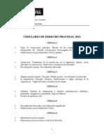 Cedulario Derecho Procesal 2014.Doc Nuevo