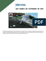 Vídeo que explica novedades Fórmula 1 2014