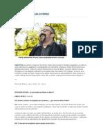 Entrevista Pablo Prez