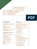 Sommaire Réussir la planification et l'aménagement durables - 2e édition 2013