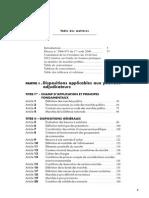 Sommaire Code commenté des marchés publics - 6e édition 2013