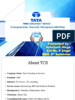 CORPORATE SOCIAL RESPONSIBILITY - TATA CONSULTANCY SERVICES (TCS)