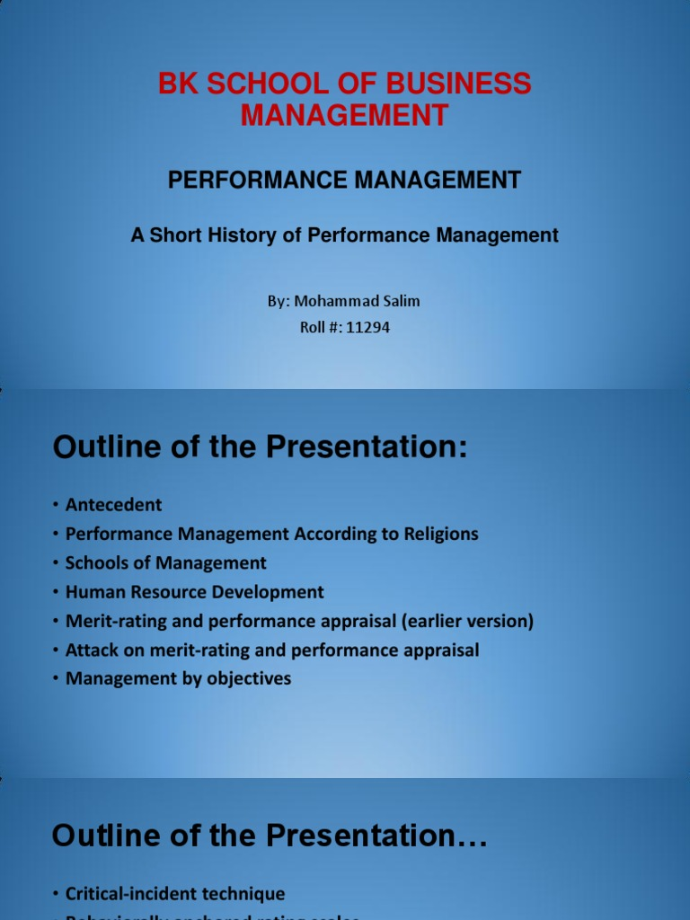 history of performance appraisal