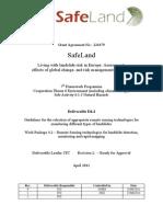 SafeLand Living With Landslide Risk in Europe- Assesment, Effect of Global Change and Risk Management Stratigies
