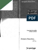 Le Partage Du Sensible Jacques Ranciere