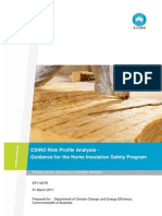 CSIRO Risk Profile Analysis - Guidance for the Home Insulantion Safety Program