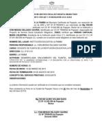 Certificado de Servicio Social Estudiantil Obligatorio La Pamba