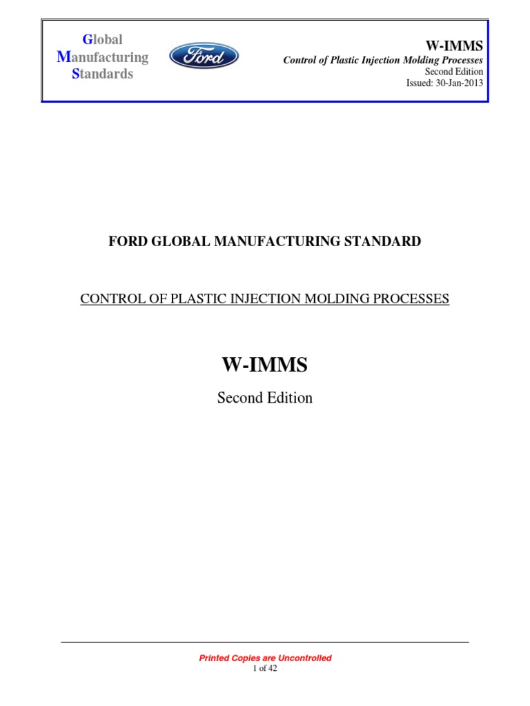 W-imms Control of Plastic Injection Molding Processes