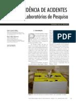 Tendencia de Acidentes Em Lab. Pesquisa MASTROENI 2004