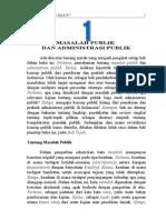 Masalah Publik Dan Administrasi Pulik